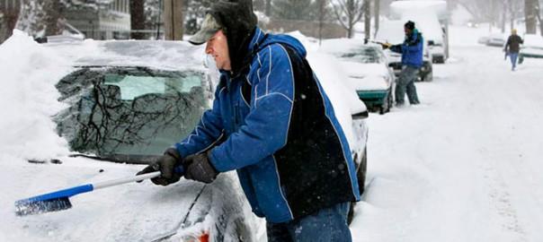 čišćenje snega sa vozila